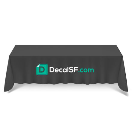 6 ft. TABLE CLOTH: Great for: trade shows, job fairs, hotel lobbies, buffets | DecalSF.com
