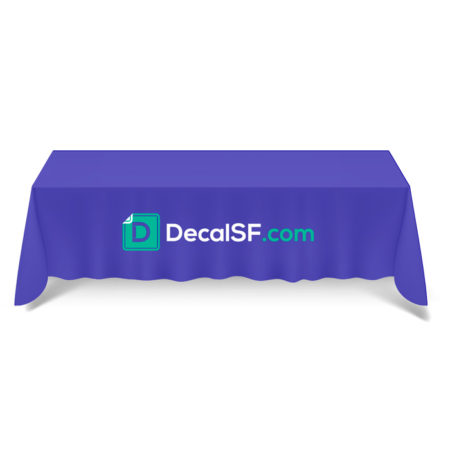 8 ft. TABLE CLOTH: Great for: sporting events, catering | DecalSF.com