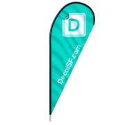 TEARDROP FLAGS: great for indoor or outdoor | DecalSF.com